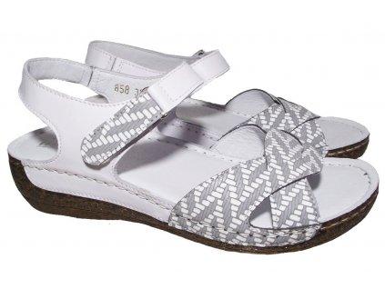 Dámské kožené sandály Hilby 858 bílé