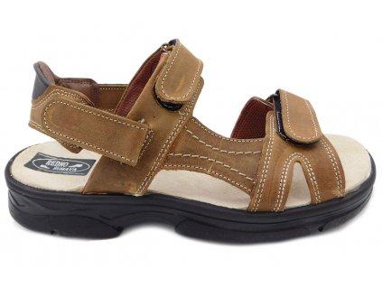 Pánská letní obuv Redno 096 083 hnědá da51ad7e73