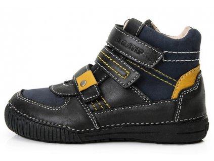 Dětské kotníkové celoroční boty D.D.step 036-52 modro-černé