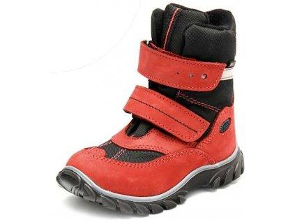 Dětské zimní kotníkové boty Fare 848241 červená