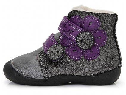 Dětské zimní kotníkové boty D.D.step 015-129A šedé