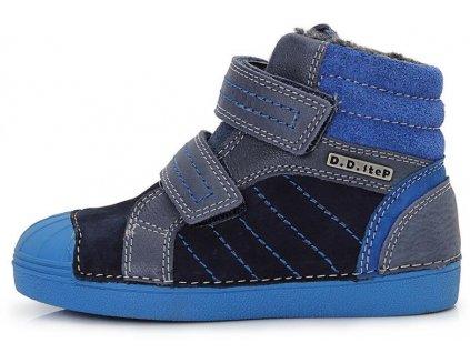 Dětské zimní kotníkové boty D.D.step 043-504 modré