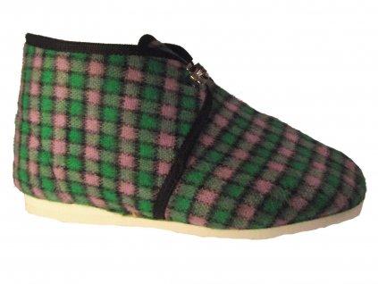 Dámské domácí papuče Bokap 063 zelená