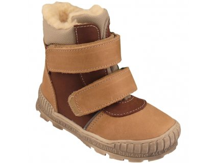 Dětské zimní kotníkové boty Pegres 17120 hnědá