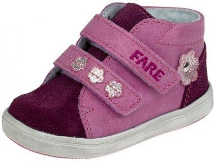 Dětské celoroční kotníkové boty Fare 2155351 vínovo-růžové