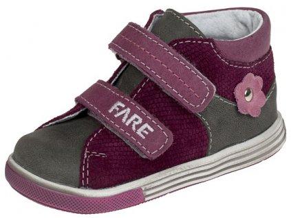 Dětské celoroční kotníkové boty Fare 2127191 růžovo-šedé