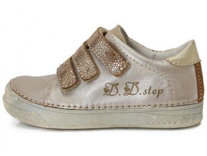 Dětské celoroční boty D.D.step 040-409A zlaté 7048ec9617