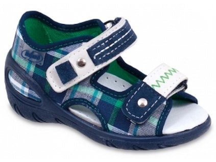 b15b3c5b92d Dětské textilní sandálky Befado 065x068 modré