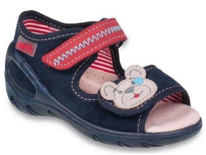 1fb5c50feac Dětské textilní sandálky Befado 433P016 modré