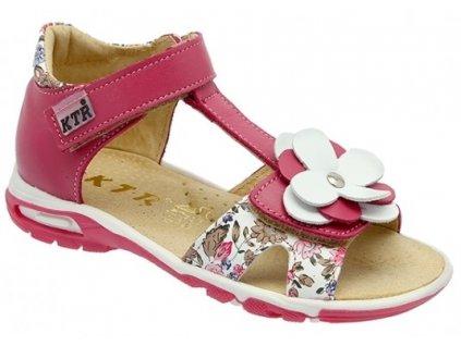 Dětské letní sandálky KTR 119/138/BI růžové