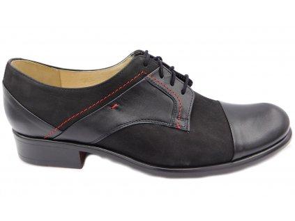 Pánská společenská obuv Barton 51917 červené prošití 02884de616f