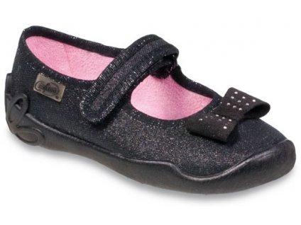 b5f875f6e98 Dětské textilní bačkůrky Befado 114y240 černé