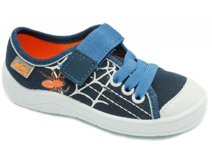 Dětské textilní tenisky Befado 251x079 modré