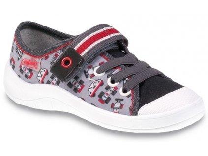 Dětské textilní tenisky Befado 251x083 šedé