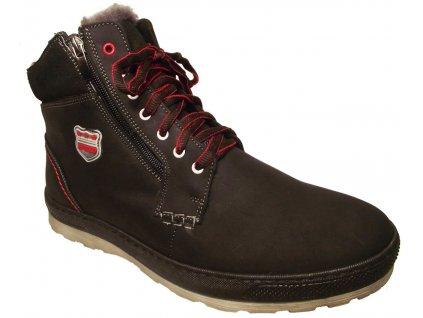 Pánská zimní kotníková obuv Hujo 2569 černá