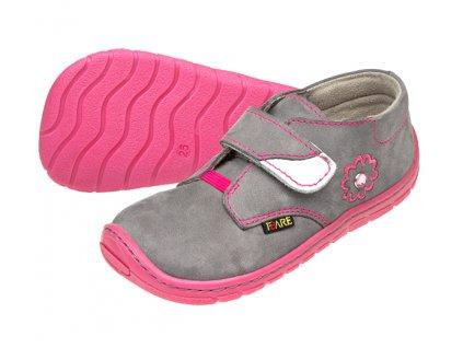 Dětské celoroční boty Fare Bare 5112261 růžovo-šedé