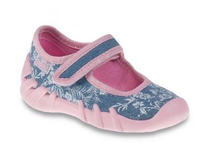 Dětské textilní bačkůrky Befado 109p160 modré