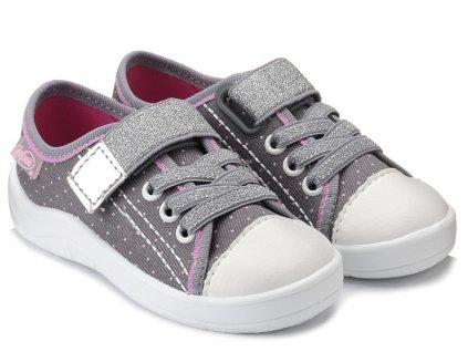 4f96ae34760 Dětské textilní tenisky Befado 251x107 šedé