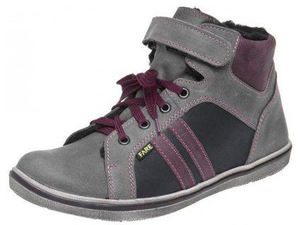 Dětské zimní kotníkové boty Fare 2649161 šedá