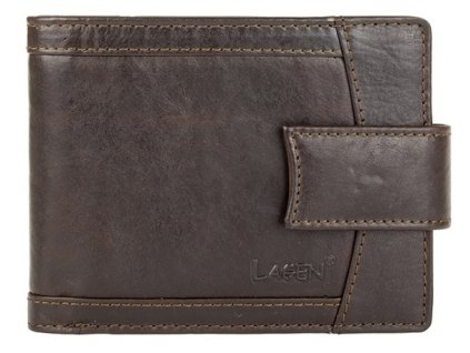 Pánská kožená peněženka Lagen V-06/T hnědá