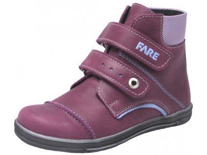 Dívčí celoroční boty Fare 2628192 vínové
