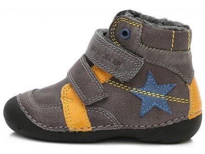 Dětské zimní kotníkové boty D.D.step 015-162 šedé