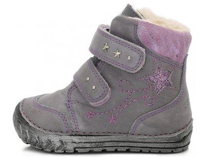 Dětské zimní kotníkové boty D.D.step 029-302B šedé ac53e7ad3c