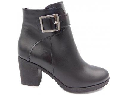 68b0d7741f9 Dámské zimní boty na podpatku Barton 18201 černé