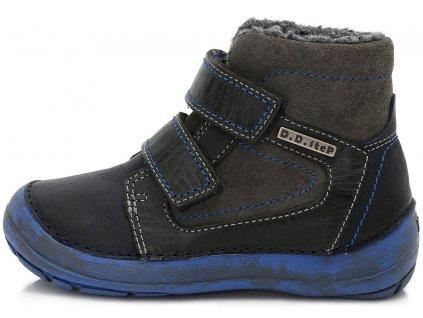 Dětské zimní kotníkové boty D.D.step 023-802 černé
