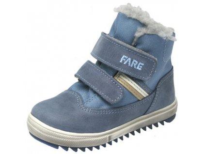 Dětské zimní kotníkové boty Fare s membránou 845102 modrá 8846a5e801