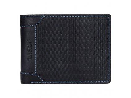 Pánská kožená peněženka Lagen 5434 tmavě modrá
