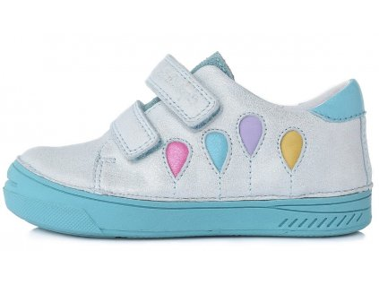 Dětské celoroční boty D.D.step 040-434 bílé