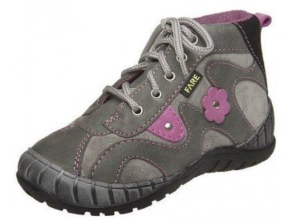 b4e9bf2877a Dětské celoroční kotníkové boty Fare 818163 šedé
