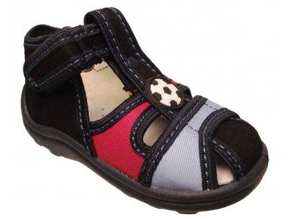 Dětské textilní sandálky Rogallo modré