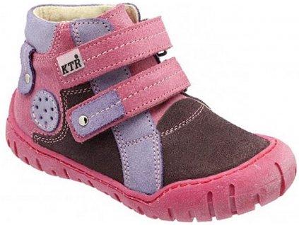 Dětské celoroční boty KTR 162 růžová