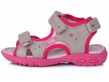 Dětské letní sandálky D.D.step AC290-7034 šedé