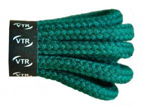 Kulaté bavlněné tkaničky do bot 1 tmavě zelená