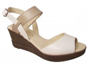 Dámské letní boty na klínku Hujo J 3467 bílé
