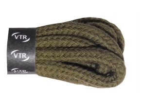 Kulaté bavlněné tkaničky do bot 1 zelená