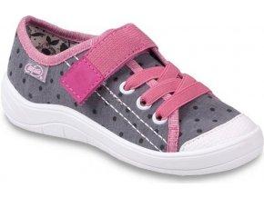Dívčí textilní tenisky Befado 251y048 šedé