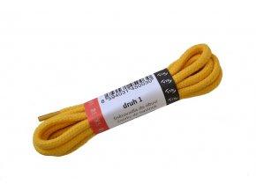 Kulaté bavlněné tkaničky do bot 1 žlutá