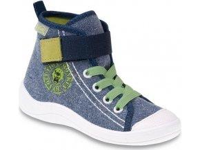 Chlapecké textilní kotníkové tenisky Befado 268Y056 modré