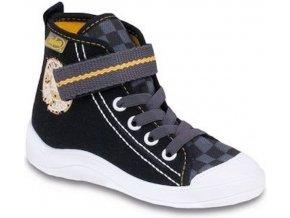 Chlapecké textilní kotníkové tenisky Befado 268Y043 černé