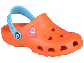 Dětské sandály Crocs Coqui Little Frog oranžové