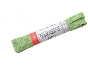 Ploché tkaničky do bot 11 zelená