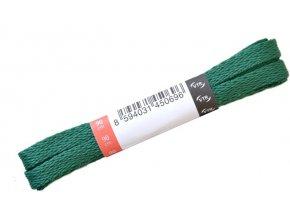 Ploché tkaničky do bot 11 tmavě zelená