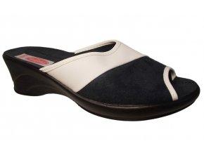 Dámské domácí pantofle na klínku Rogallo 16571 bílé