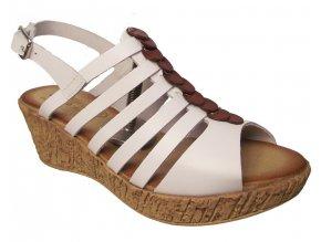 Dámské letní boty na klínku KTR 31727 bílé
