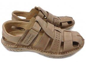 Pánské kožené sandály Hujo EF 236 černé