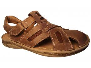 Pánské kožené sandály Hujo EF 195 béžové
